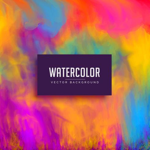 beautiful watercolor background with flowing ink effect