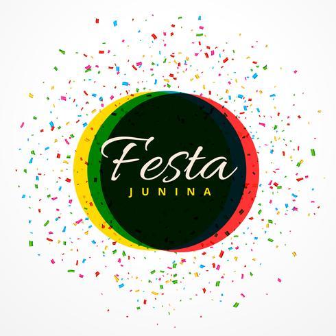 festa junina party célébration fond avec des confettis