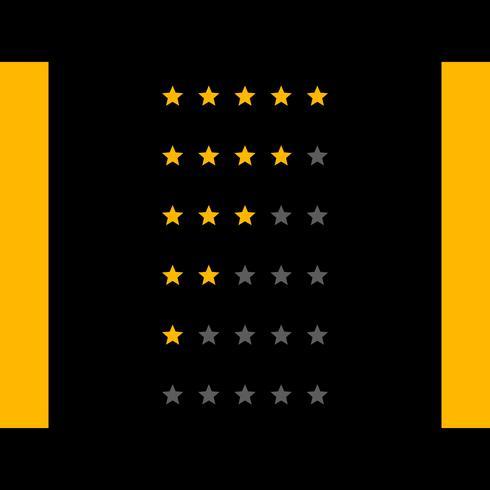 dark star rating vector design