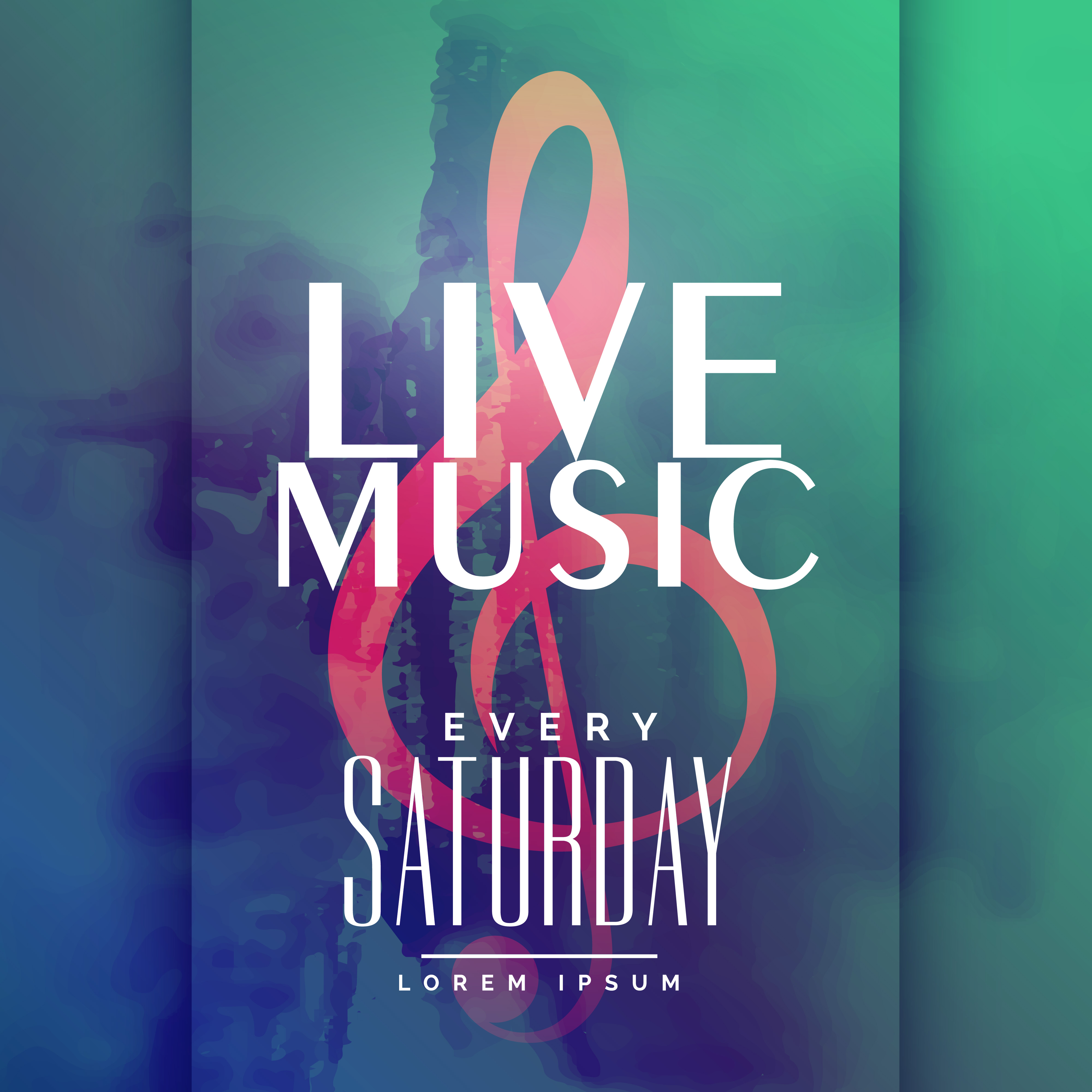 Arts Live Song Room: Live Music Event Poster Design Template