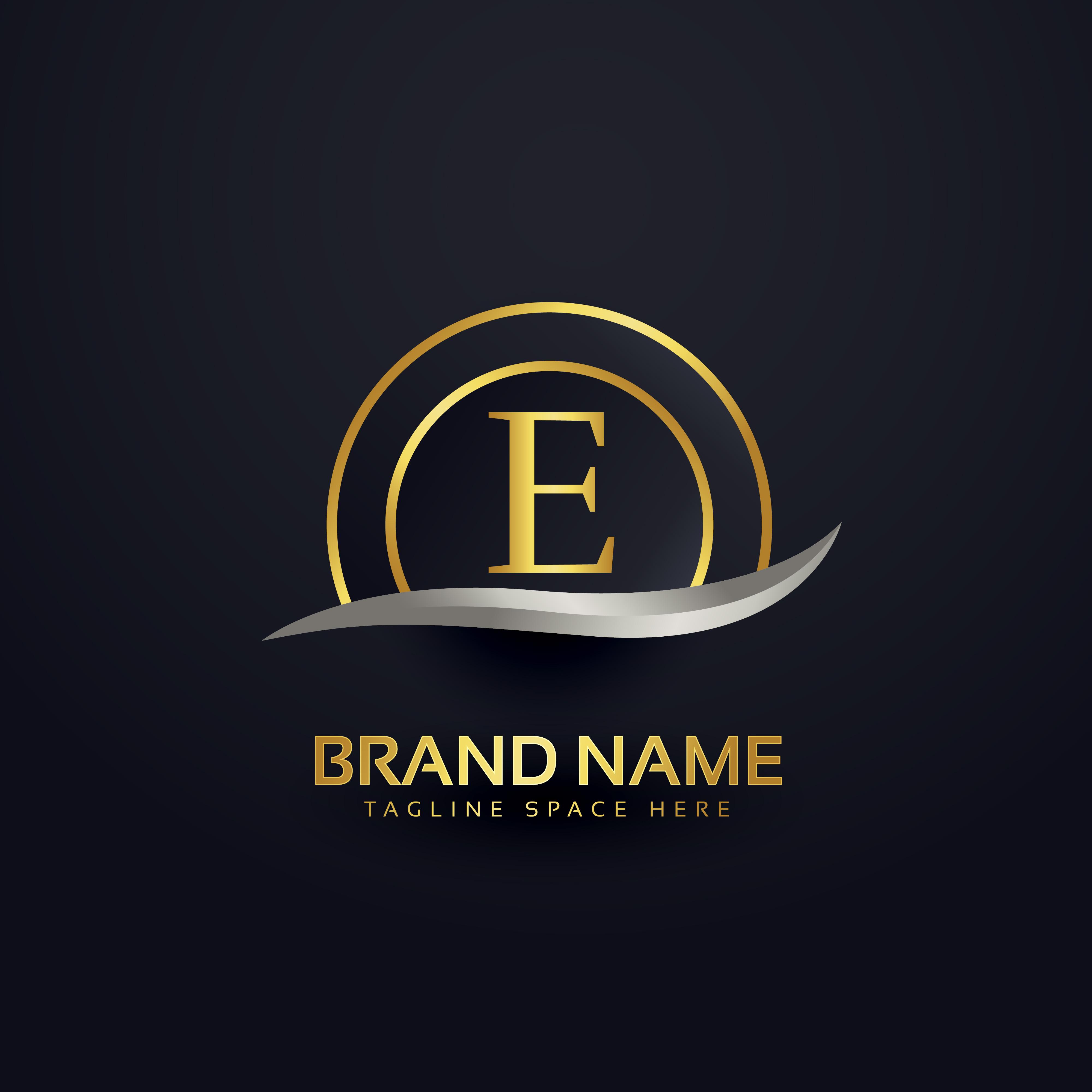 P Design: Letter E Logo Free Vector Art