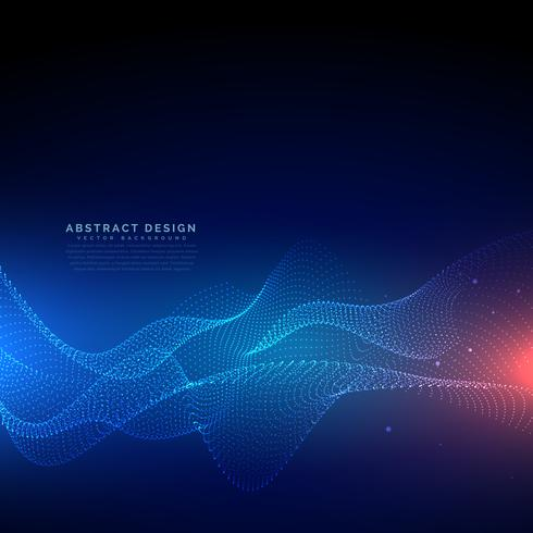 flowing particles technology digital cyber background