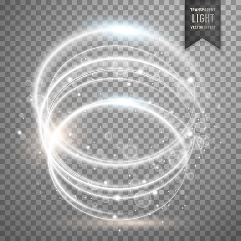 circular white transparent light effect background