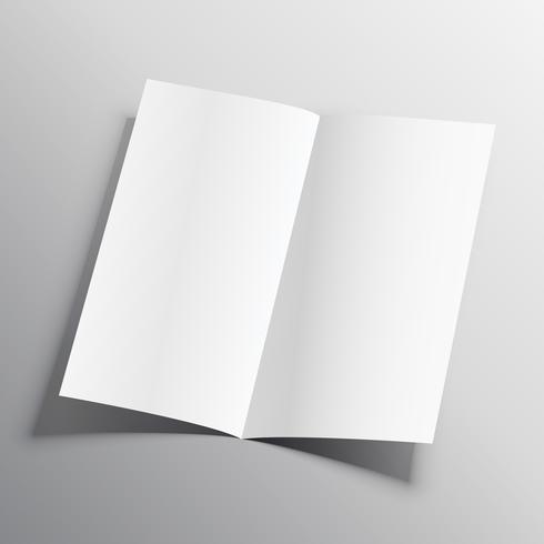 modèle de conception de vecteur de maquette de papier plié