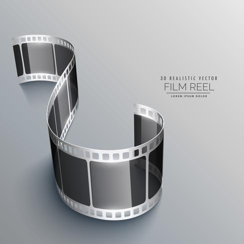 3d film strip on gray background design