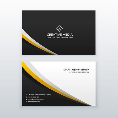 business card template design in simple style