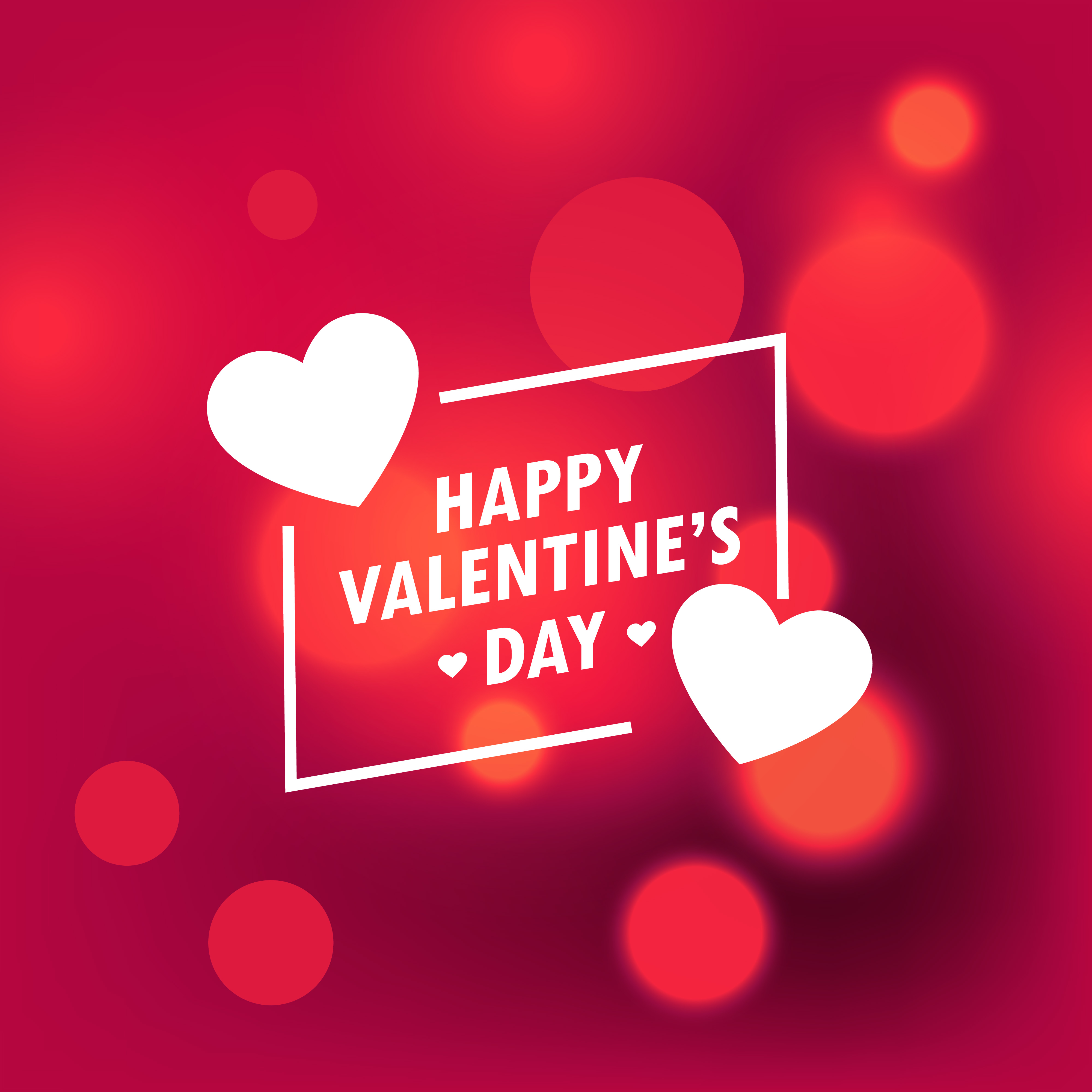 Valentine Day: Beautiful Happy Valentines Day Background With Bokeh