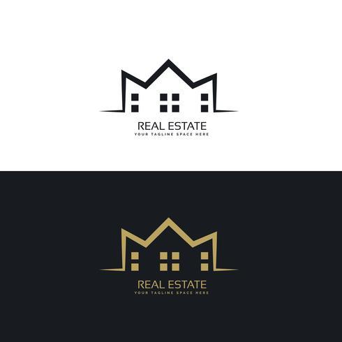 design de logotipo moderno para o setor imobiliário