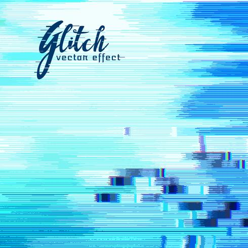 blue glitch error background with distorted background