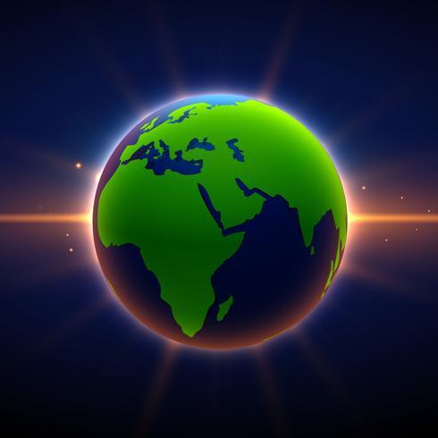 jord bakgrund med glödande ljus effekt