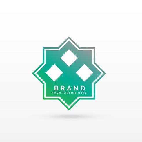 modello di logo di stile arabo geometrico