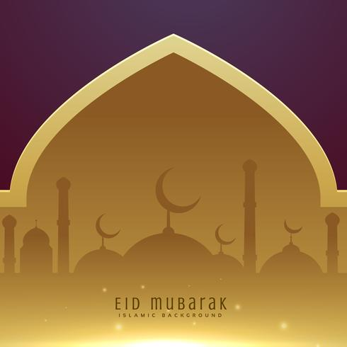 beautiful muslim eid festival greeting design background
