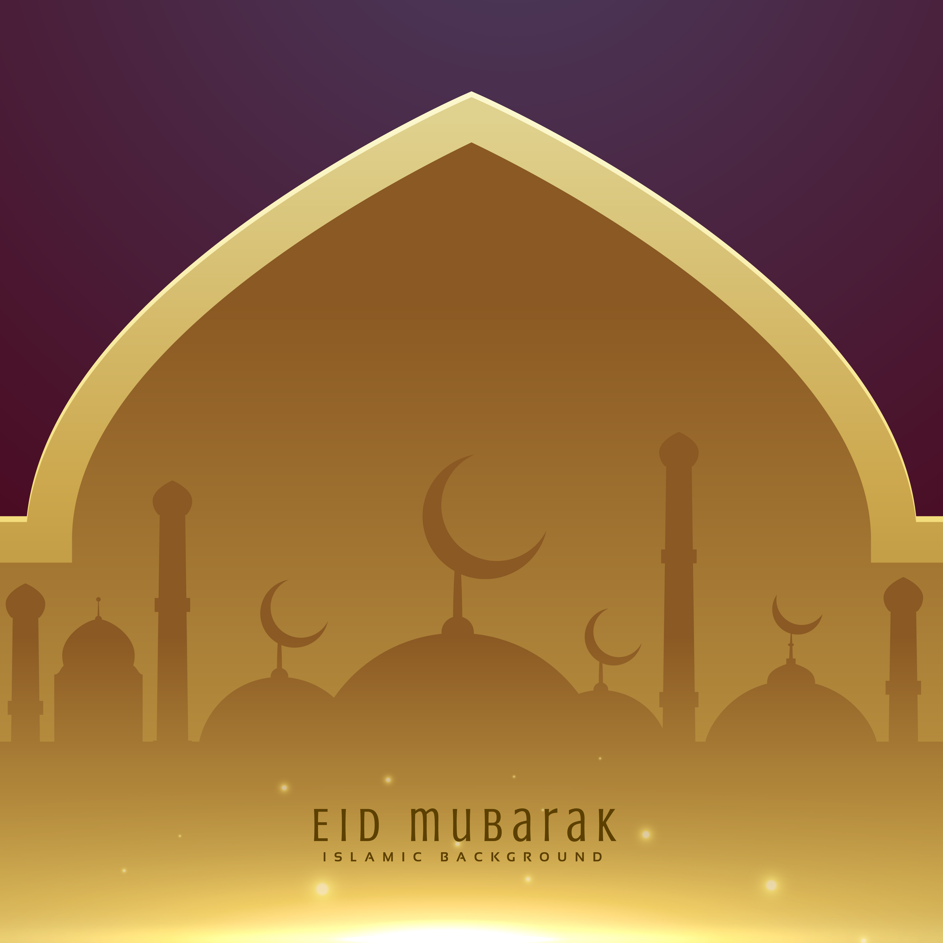 Beautiful Muslim Eid Festival Greeting Design Background Download