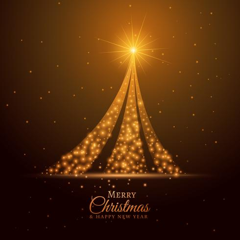 golden sparkle christmas tree design background