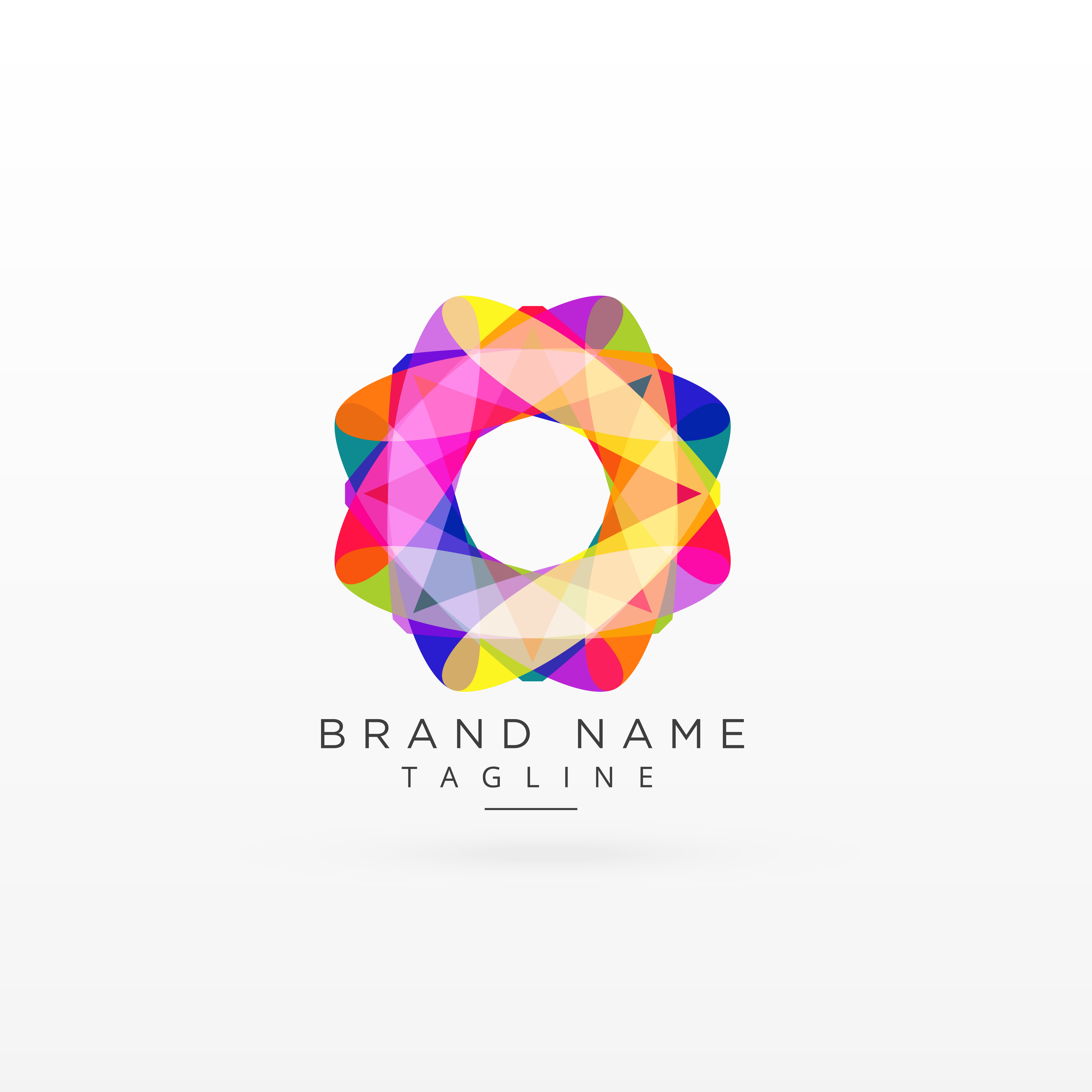 abstract colorful logo design concept download free