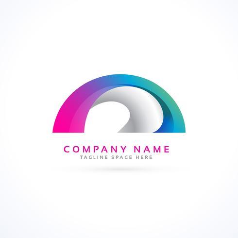 abstracte vorm logo concept