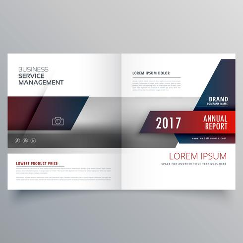 business magazine bifold brochure template with creative design