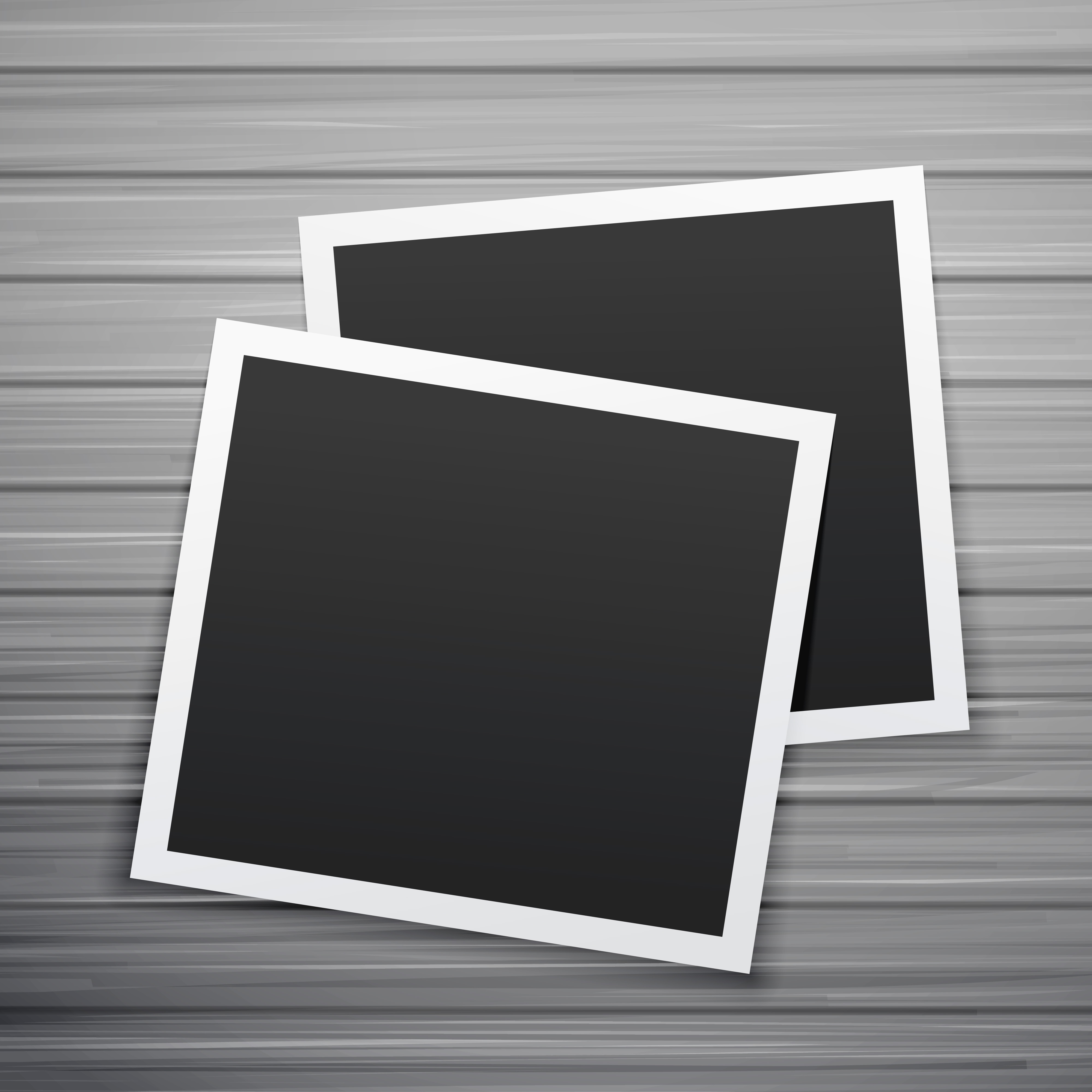 two photo frames stack vector