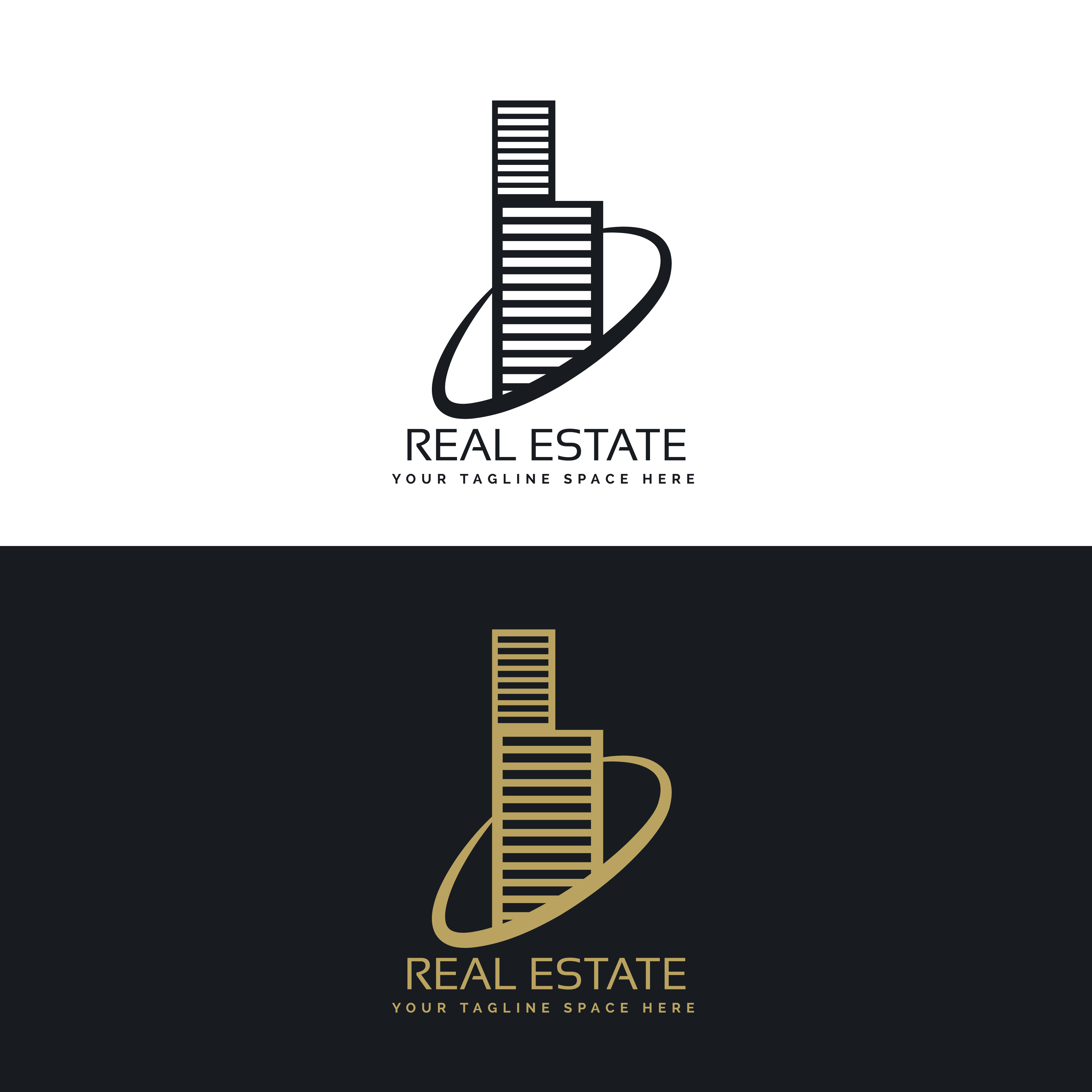 Real Estate Building Business Logo Concept Design Free Vector Art Stock Graphics Images