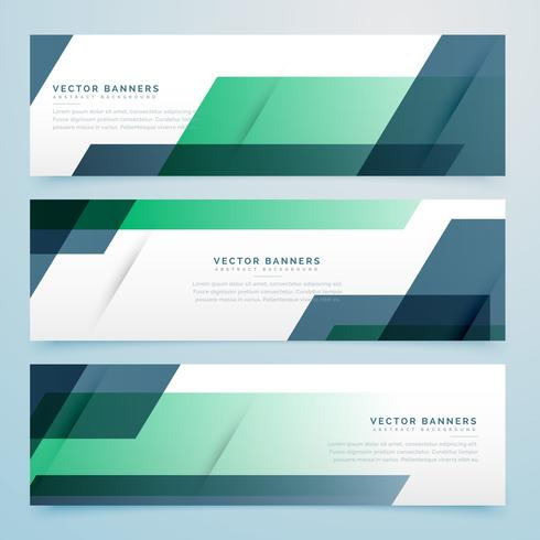 business banners set background design