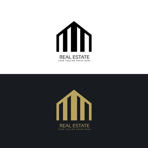 creative real estate logo design concept