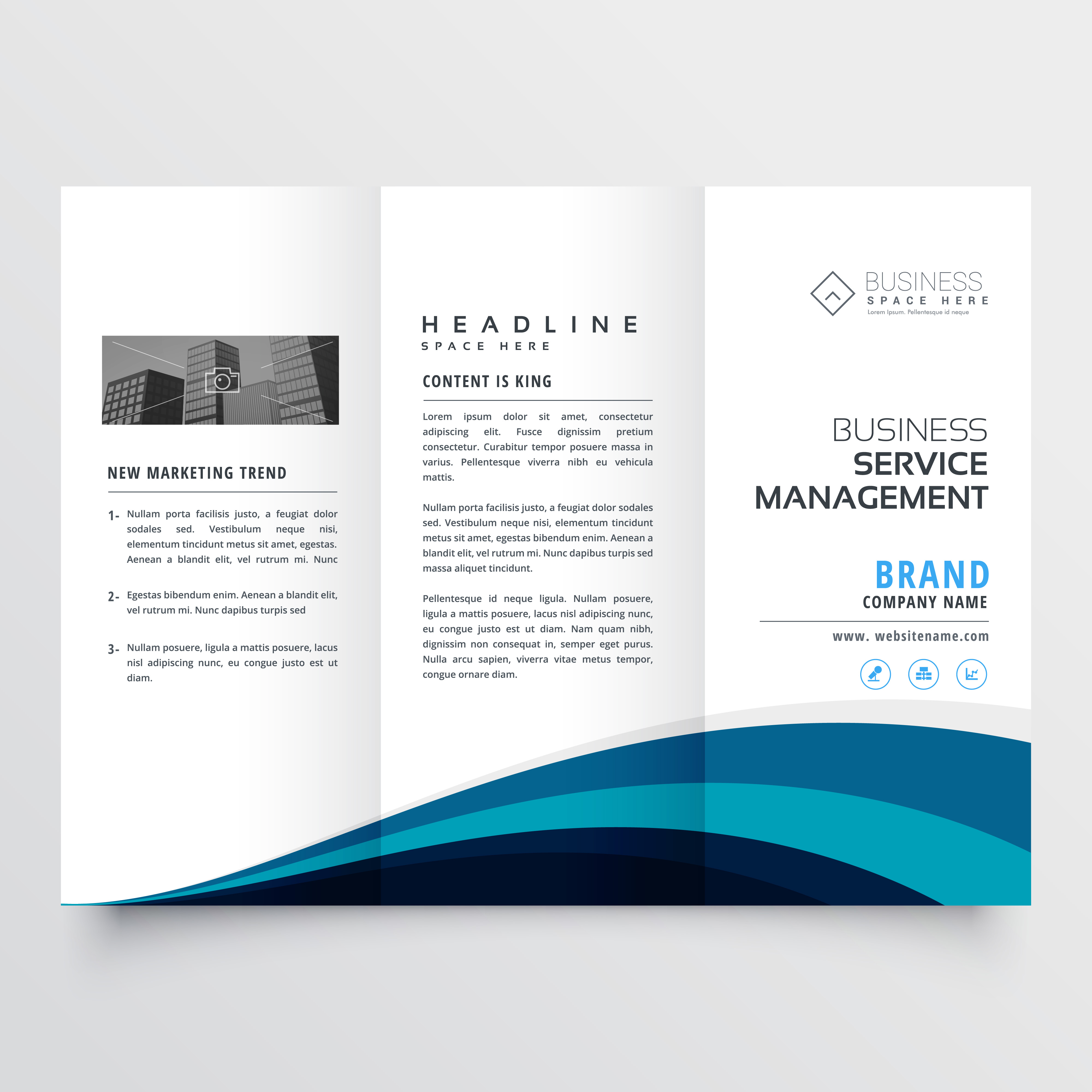 Modern trifold brochure design template download free for Modern brochure template