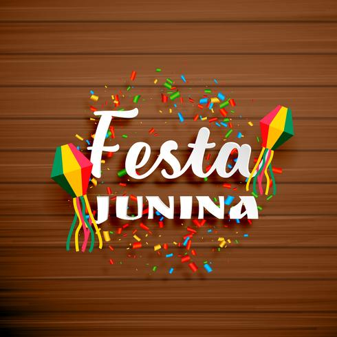 festa junina celebration background with confetti