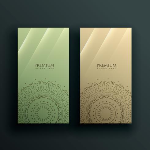 mandala kaart banner decoratie ontwerp