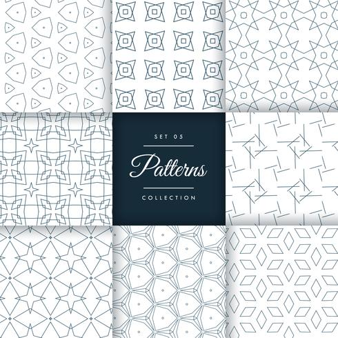 stylish geometric patterns set collection