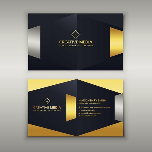 premium luxury business card design template