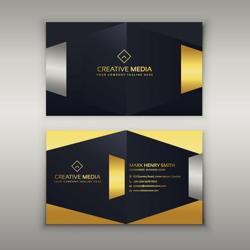 Premium Luxus Visitenkarte Designvorlage