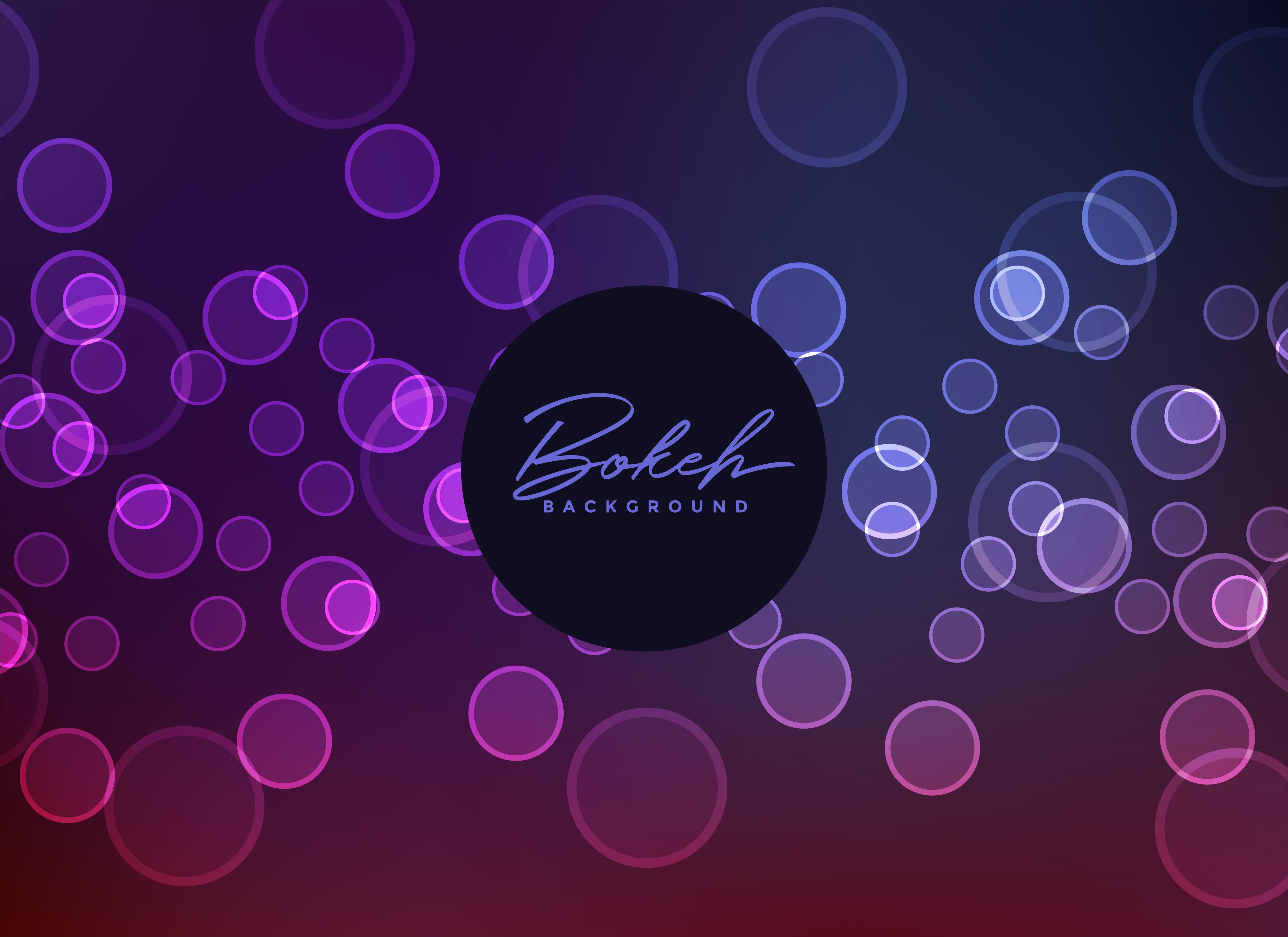 Bokeh Effect Backgrounds: Dark Neon Style Bokeh Effect Background