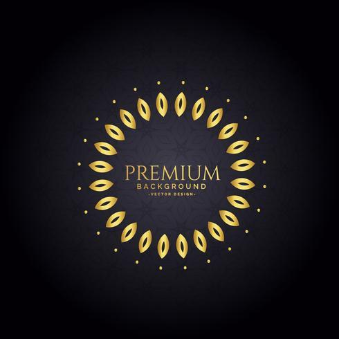 decorative golden frame premium background