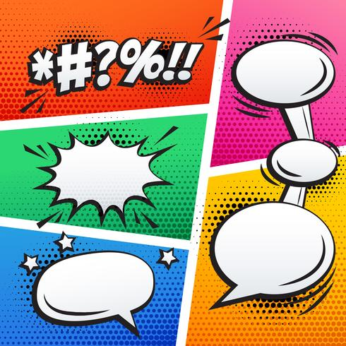 empty comic sound effect and page strip vector background