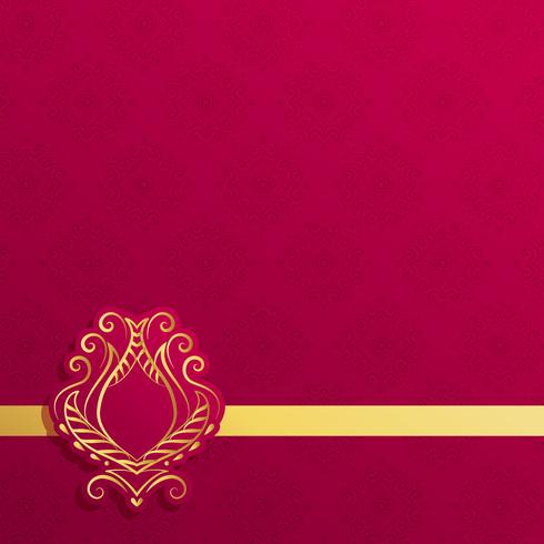 premium background with golden motif ornamental decoration