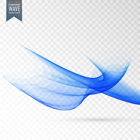 abstract wave effect on transparent background