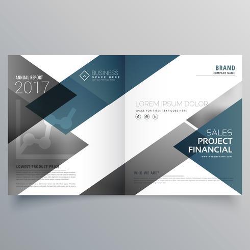 business bifold brochure flyer leaflet magazine cover page desig