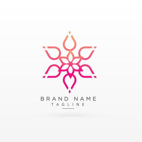 projeto de conceito de logotipo de flor bonita