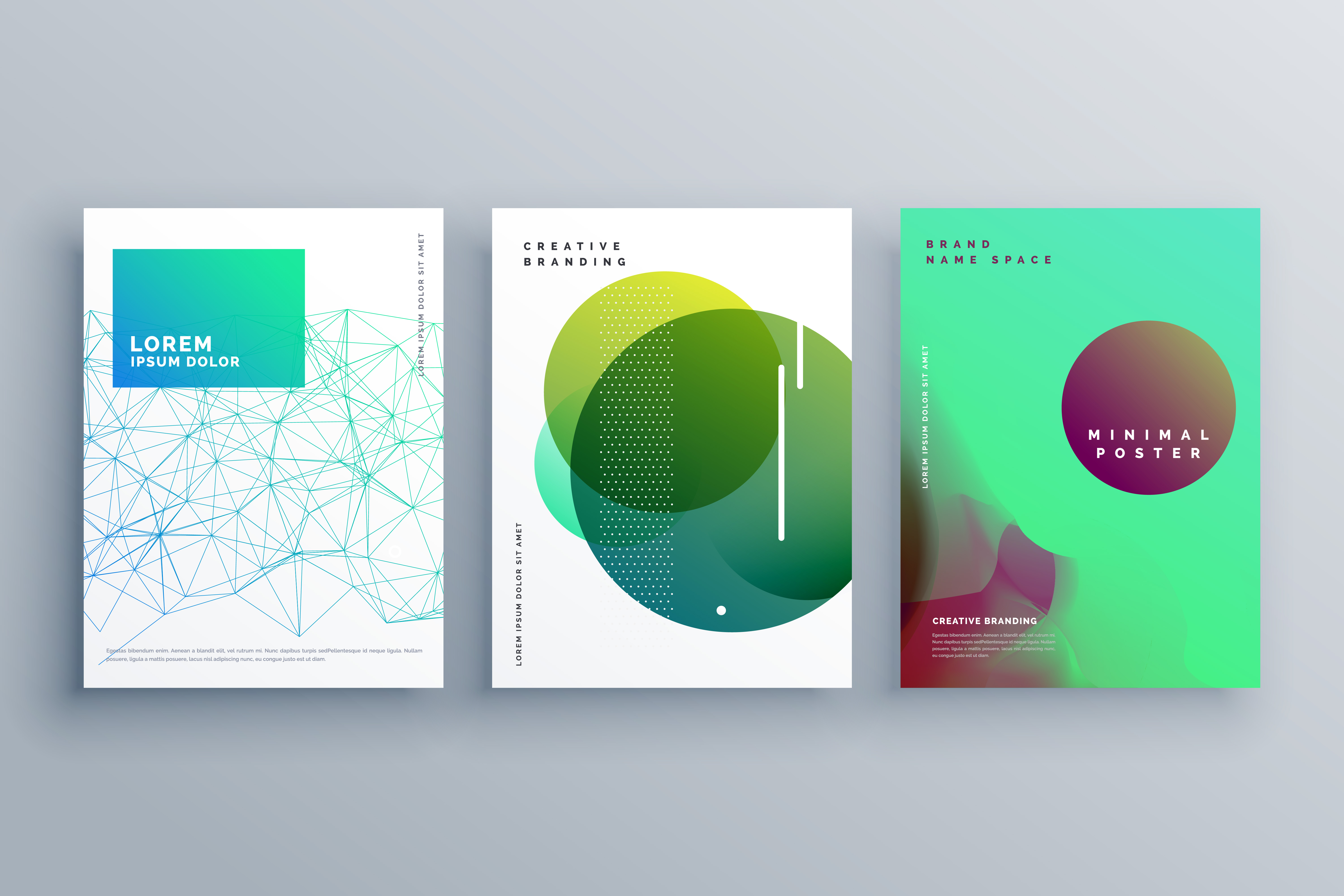 elegant cover page design template in minimal style