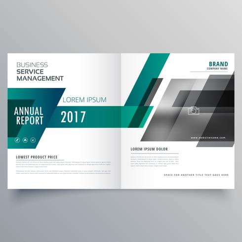 company bifold brochure design template cover with modern geomet