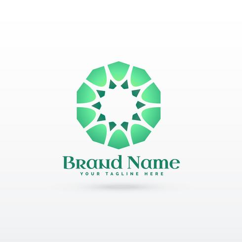 islamic pattern shape logo design concept