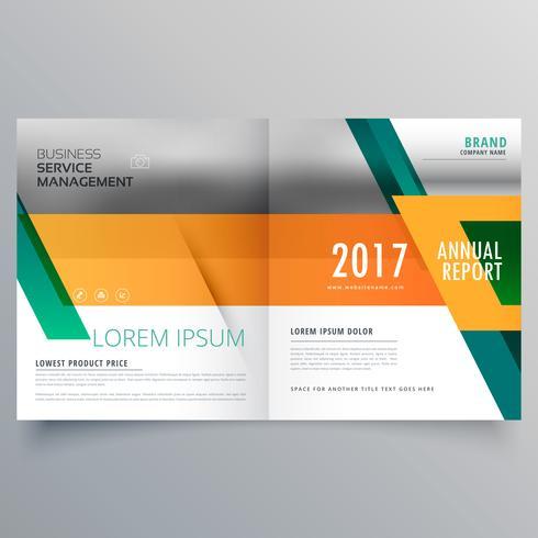 modelo de design de brochura de negócios laranja e verde