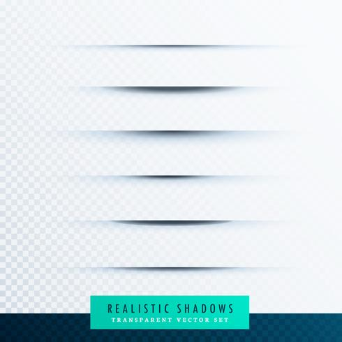 transparent paper line shadow effect vector set