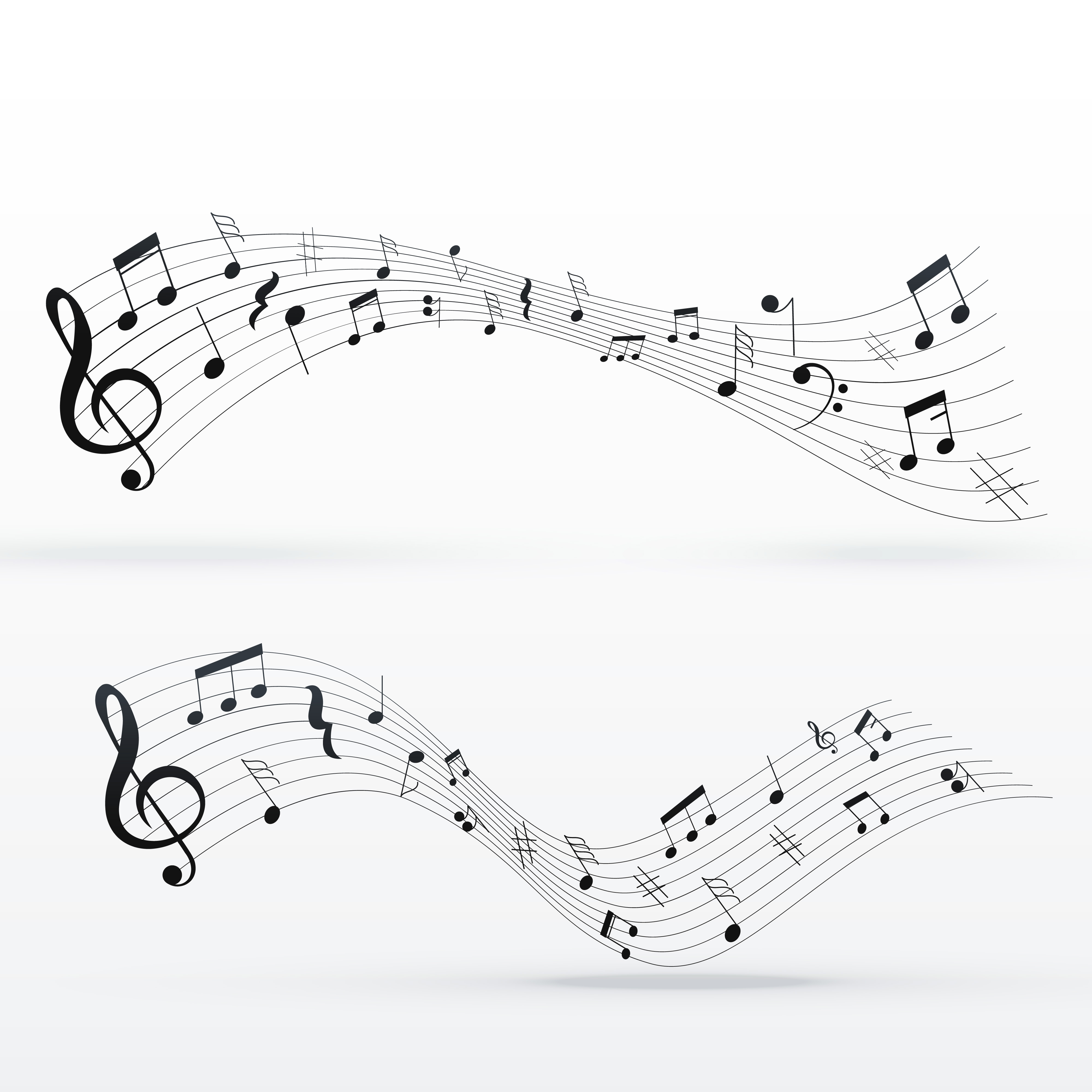 music notes free vector art 3497 free downloads