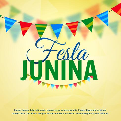 festa junina june festival of brazil vector design