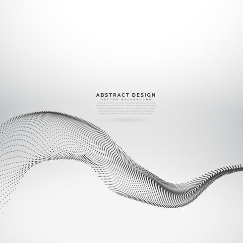 dots particles wave flowing background