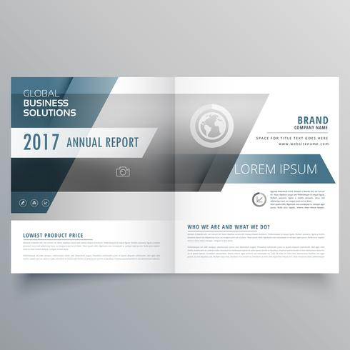 modern elegant business brochure template in bifold style