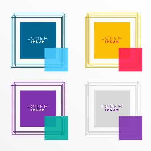 square banners in many colors