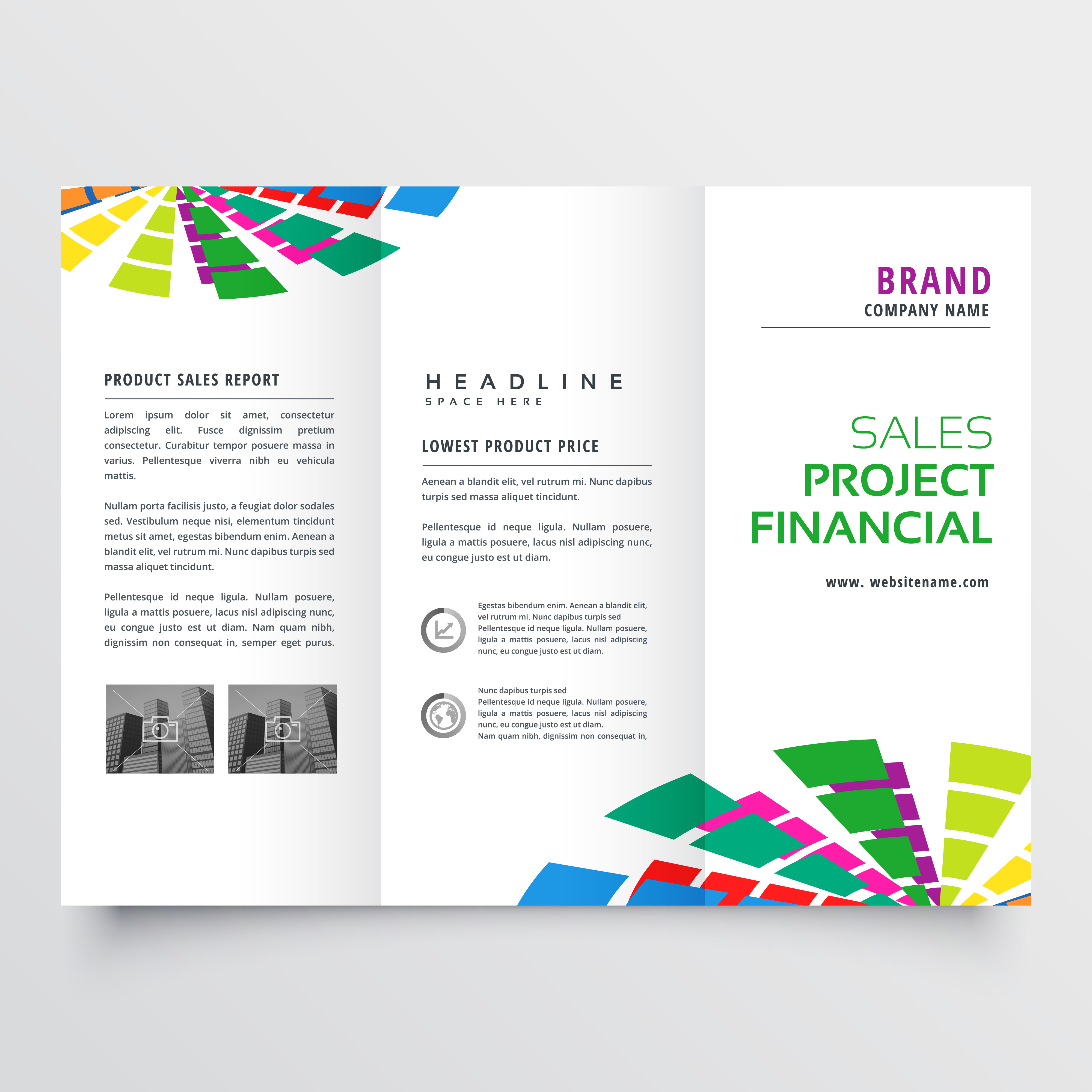 Abstract colorful brochure design template vector for Colorful brochure design