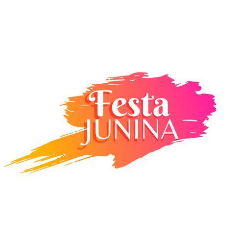 Fondo de saludo de vacaciones de fiesta junina